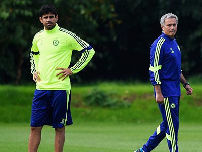 Diego Costa y Jose Mourinho